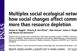 Loss of key households and cultural ties linked to sharing may impact communities more than resource depletion