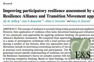 Combining the best of resilience assessment and transition movement approaches